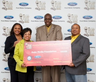 Bill Duke with Ford Motor Company Fund and NAACP Reps. Photo Earl Gibson III