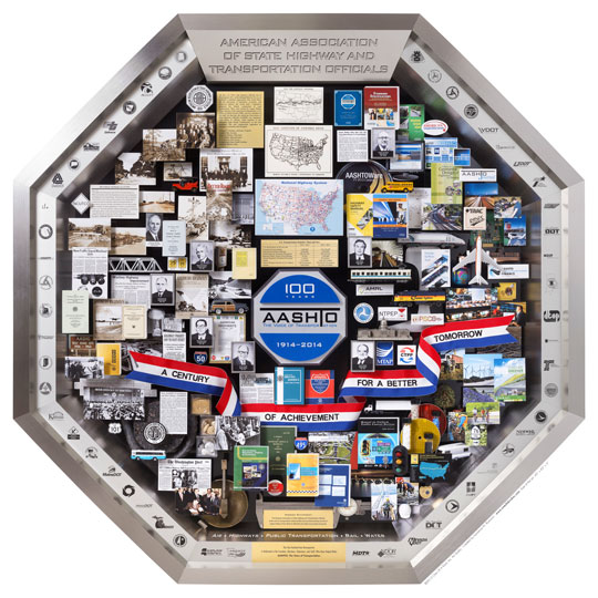 One Of A Kind AASHTO 3-Dimensional Centennial Art