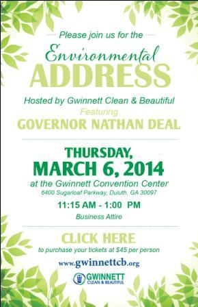GCB to Host Environmental Address Featuring GA Governor Nathan Deal