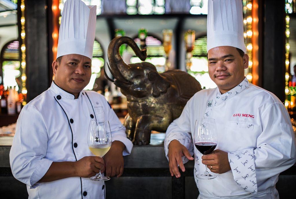 Heritage's Chef Buon Vibol with Cambodia's Top Chef Luu Meng