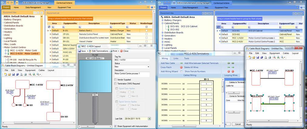 AVEVA Electrical and AVEVA Instrumentation share the same database; changes...
