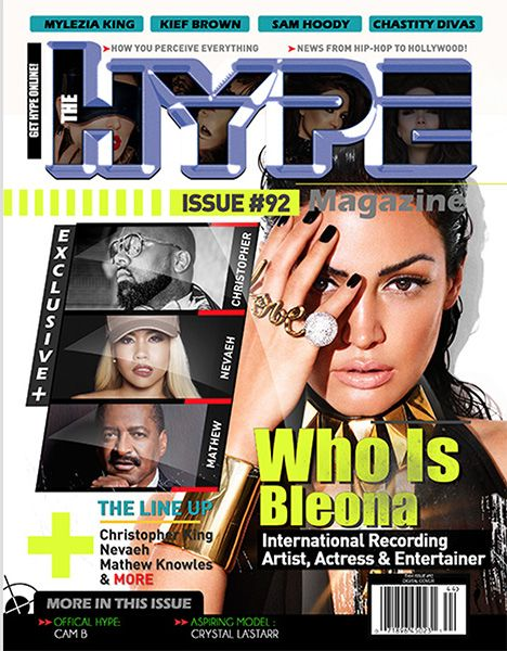Pop superstar Bleona and Mathew Knowles cover issue #92 of The Hype Magazine