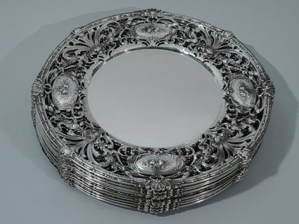 american sterling silver dinner plates antique sil