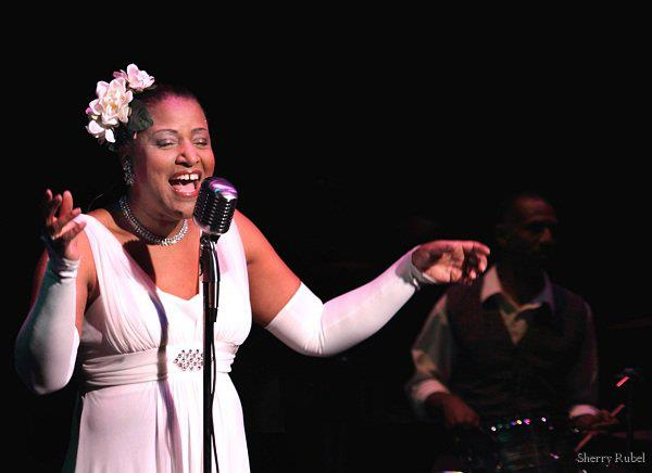 Vanessa Rubin portraying Billie Holiday