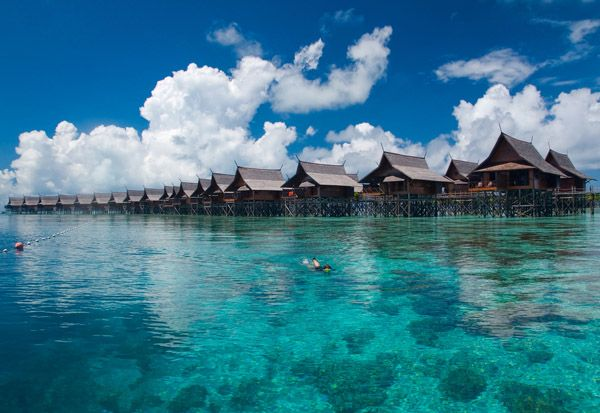 Over-the-water Bungalows, Sabah