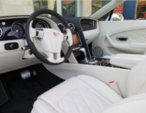The interior of our beautiful 2014 Bentley GTC convertible