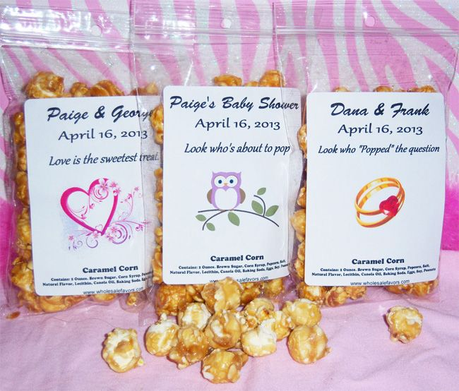 Wholesale Favors Inc Announces New Caramel Popcorn Baby Shower Favor Wholesale Favors Inc