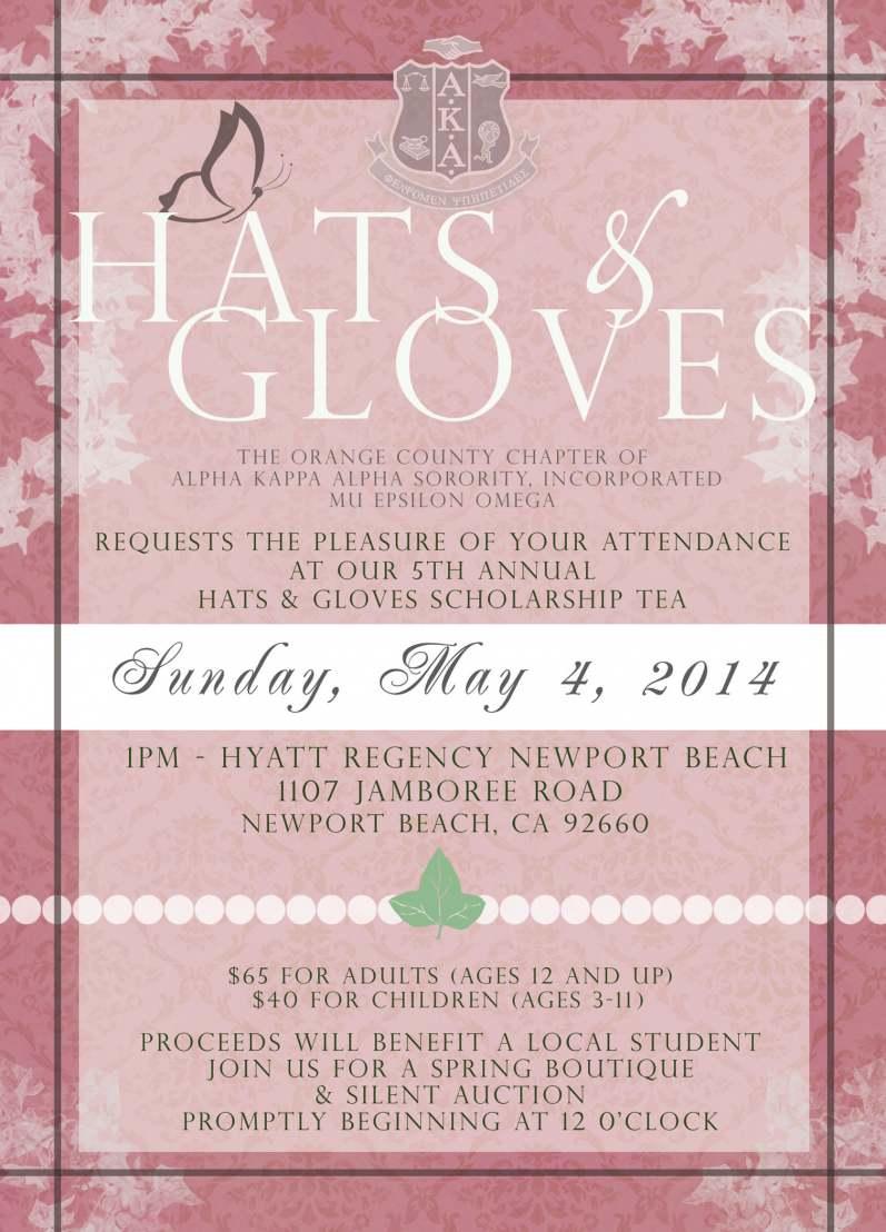 Hats & Gloves Scholarship Tea