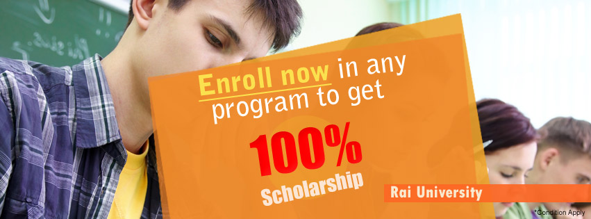 Rai University Introduces 100 Percent Scholarships