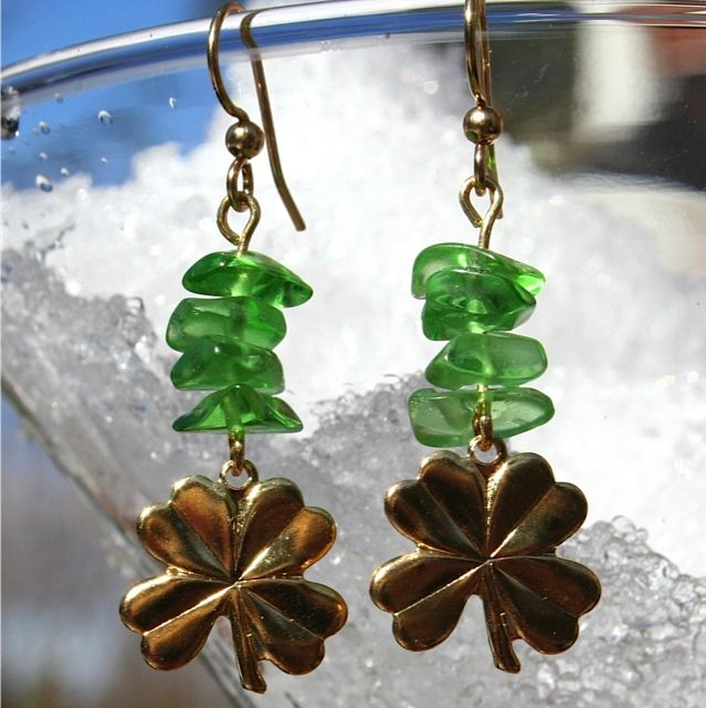 Lucky in Lime Hypoallergenic Earrings