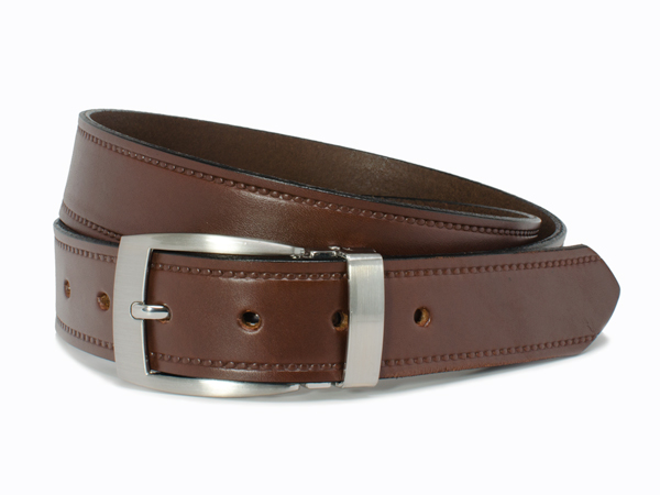 Nickel Free Elk Knob Brown Belt