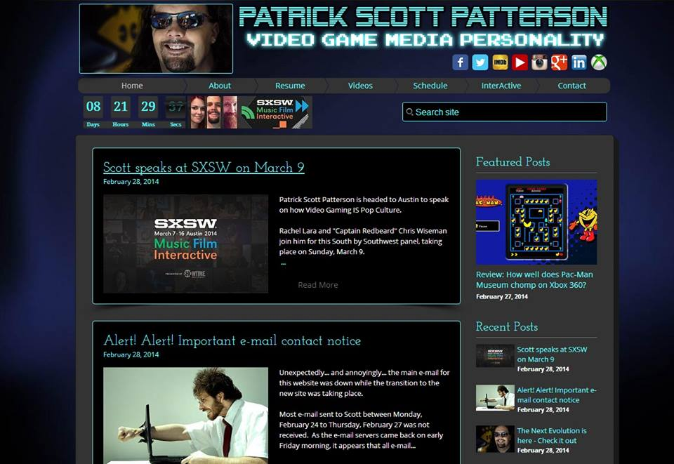 The new PatrickScottPatterson.com