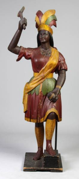 This 19th century Cigar store Indian will be sold at auction Saturday, March 29