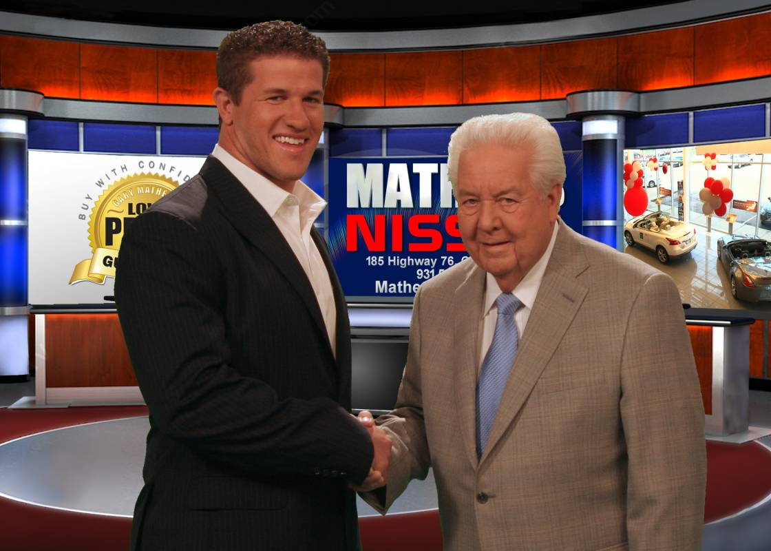 Titans' Colin McCarthy with Mr. Mathews