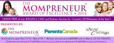 The Mompreneur 2014 Award of Excellence www.themompreneur.com/award