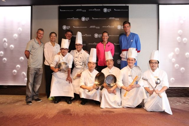 GM and Chef met World Tennis Players