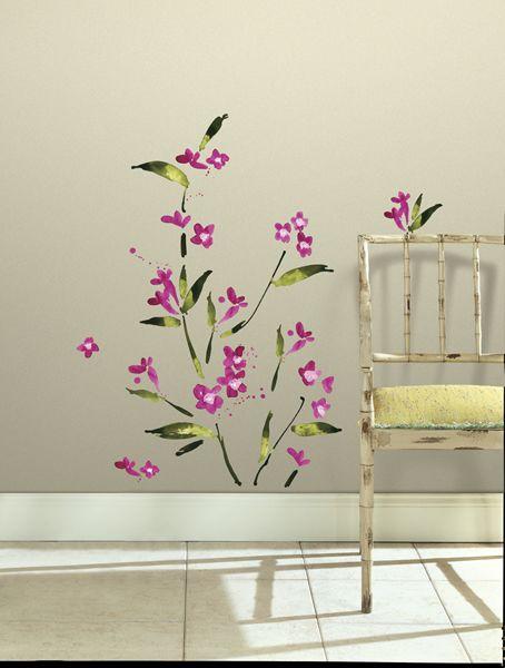 Fuchsia Flower Wall Stickers