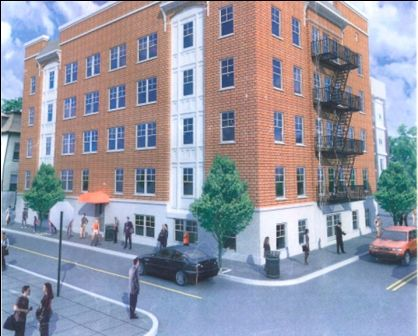 Rendering of Fully Renovated 16-Unit Apartment Building at 39 North Burnett St.