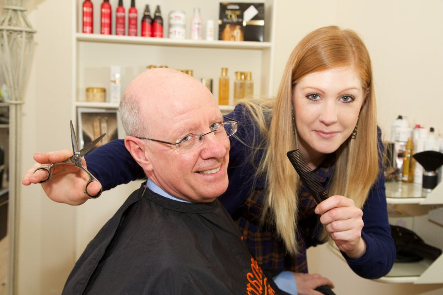 Neil Stevenson and Caroline Brown at Get Smart Hair & Beauty, Darlington
