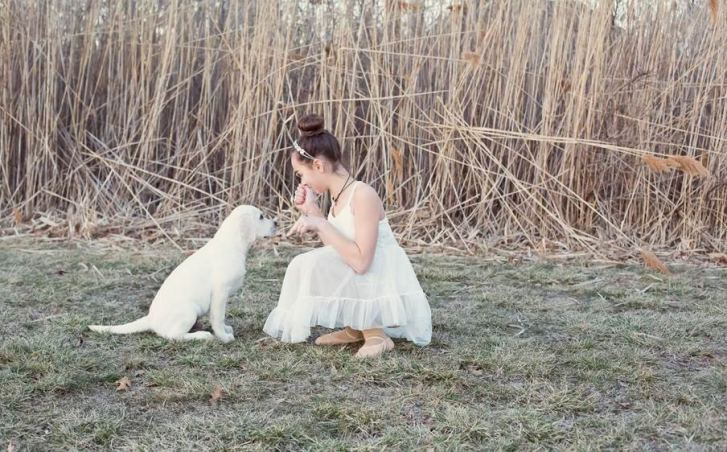 Avery Mellor of Little Silver with her puppy Bohdi (Credit: Melissa Mellor)
