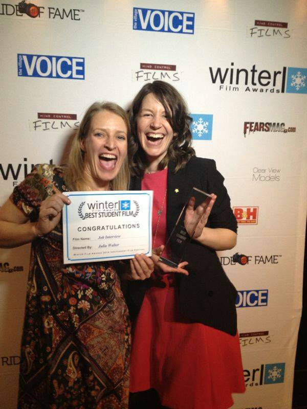 Best Student Film Winner Julia Walter & Best Actress Nominee Stefanie Von Poser