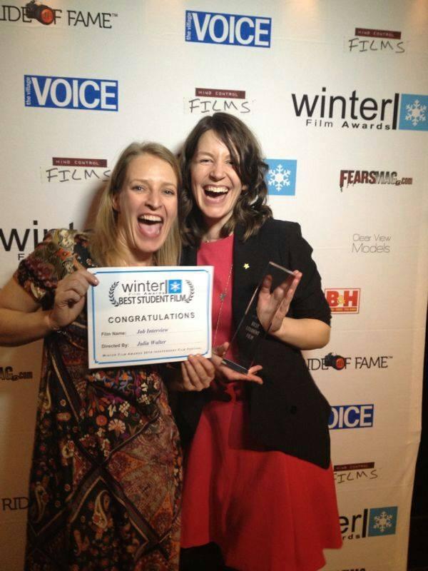 Best Student Film Winner Julia Walter & Best Actress Nominee Stefanie Von Poser