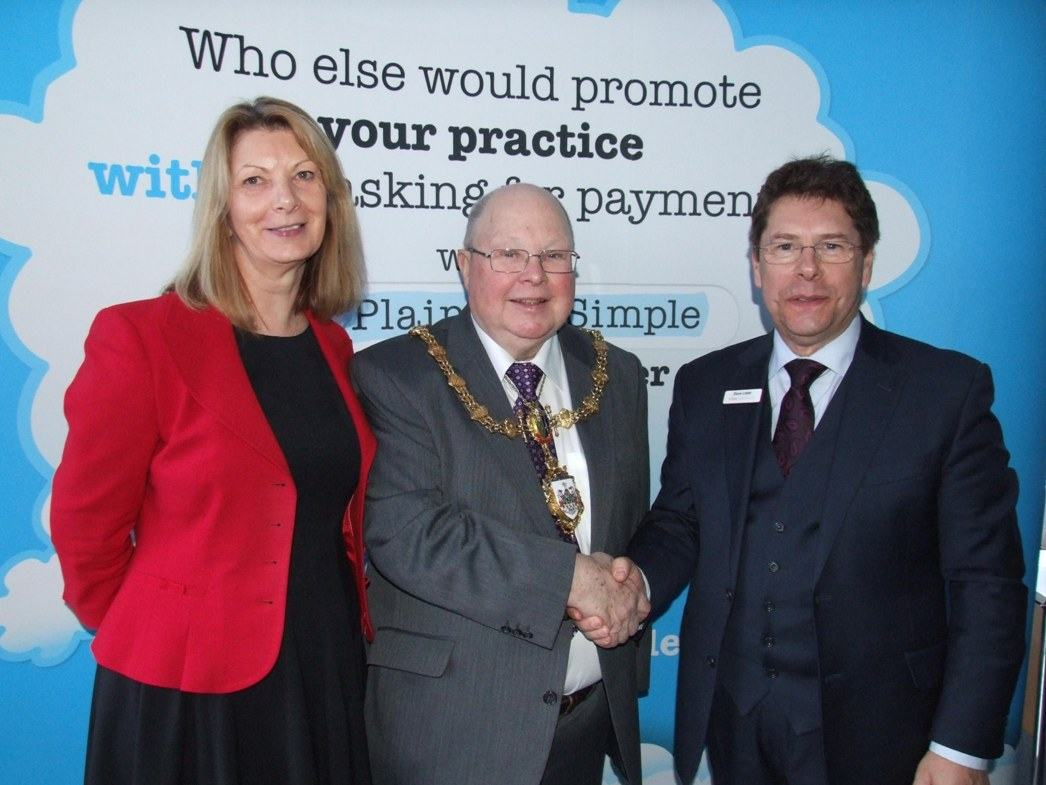 The Mayor with Lynne Lister (left) and Dave Lister