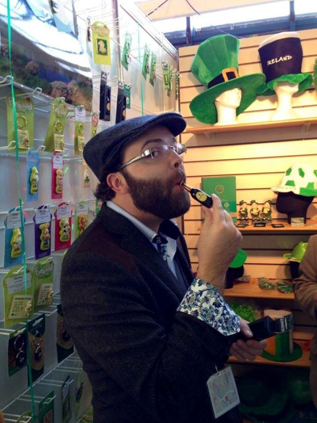 William Zehnder Keller at Funky Skunk Irish event