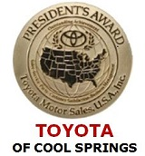 Toyota of Cool Springs Wins 2013 President's Award