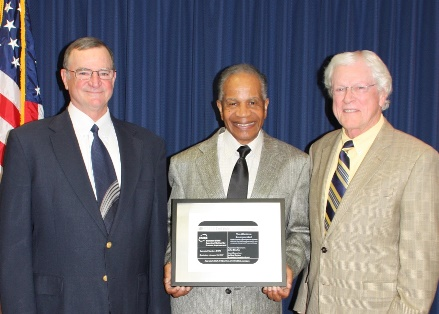 (l-r)  VP John Broyles; President Marvin P. Carroll; Quality Manager Bob Lewis