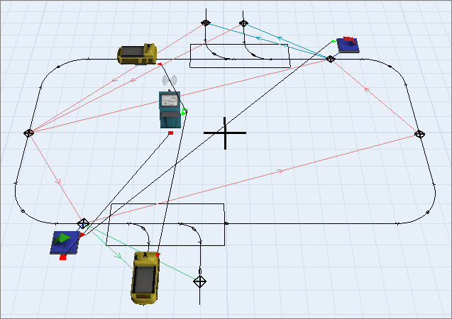 Quickly model and simulate any AGV system.