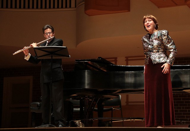 Mezzo-soprano D'Anna Fortunato and flutist Peter H. Bloom tour extensively