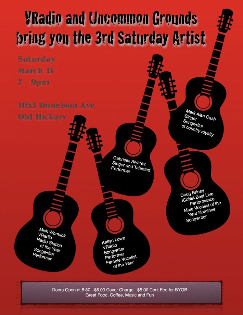 3rd Saturday Artists At Uncommon Grounds