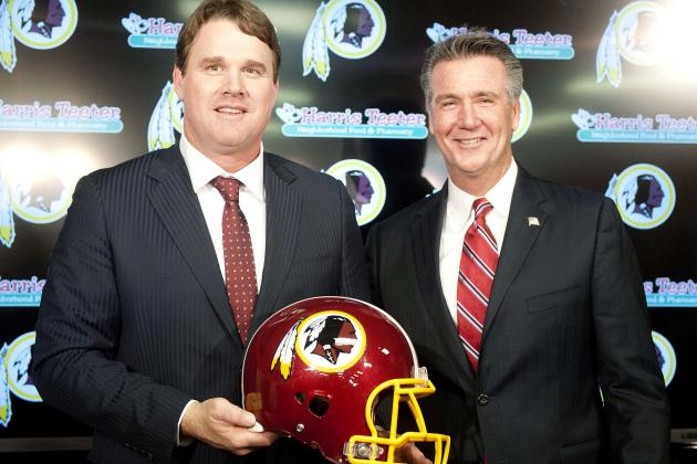 Redskins Dan Gruden with Ron Robey