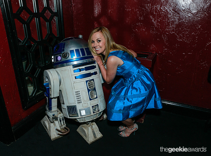 Kristyn Burtt hosts the red carpet at The 2013 Geekie Awards