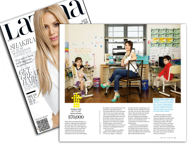 Priska Diaz Founder/CEO of Bittylab featured on Latina Magazine