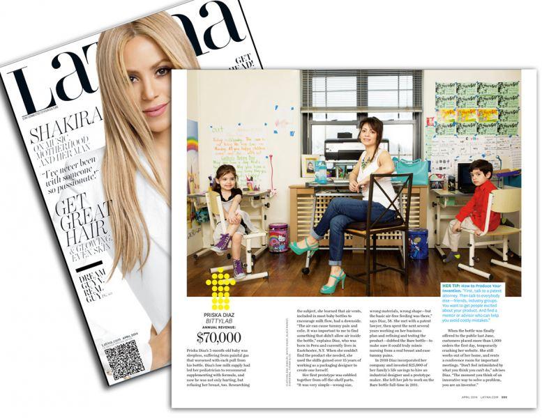 Priska Diaz Founder/CEO of Bittylab featured on Latina Magazine