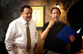 Paul Sorvino with director Tony Randel