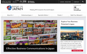 Export to Japan website
