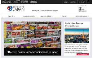 Export to Japan website
