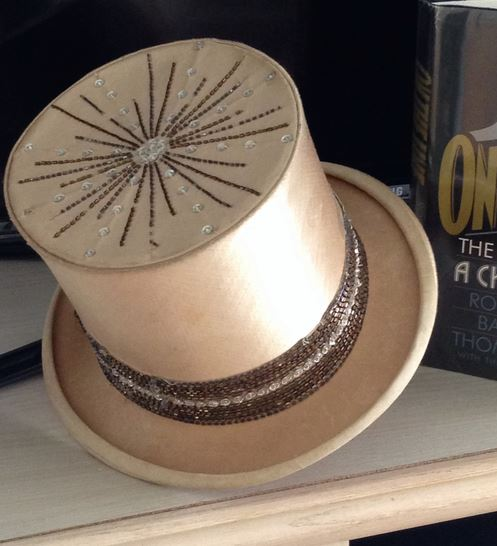 The glittery top hat that was used by director KD Smith in Broadway