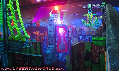 Creative Works designs pirate themed laser tag for restaurant
