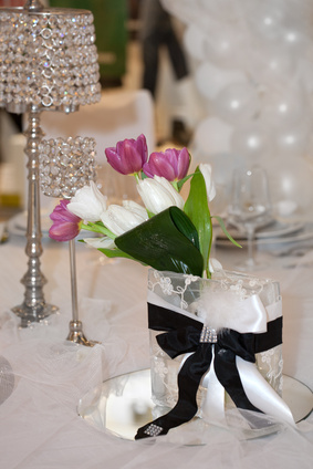 Crystal table lamps are just one of the latest wedding styling trends