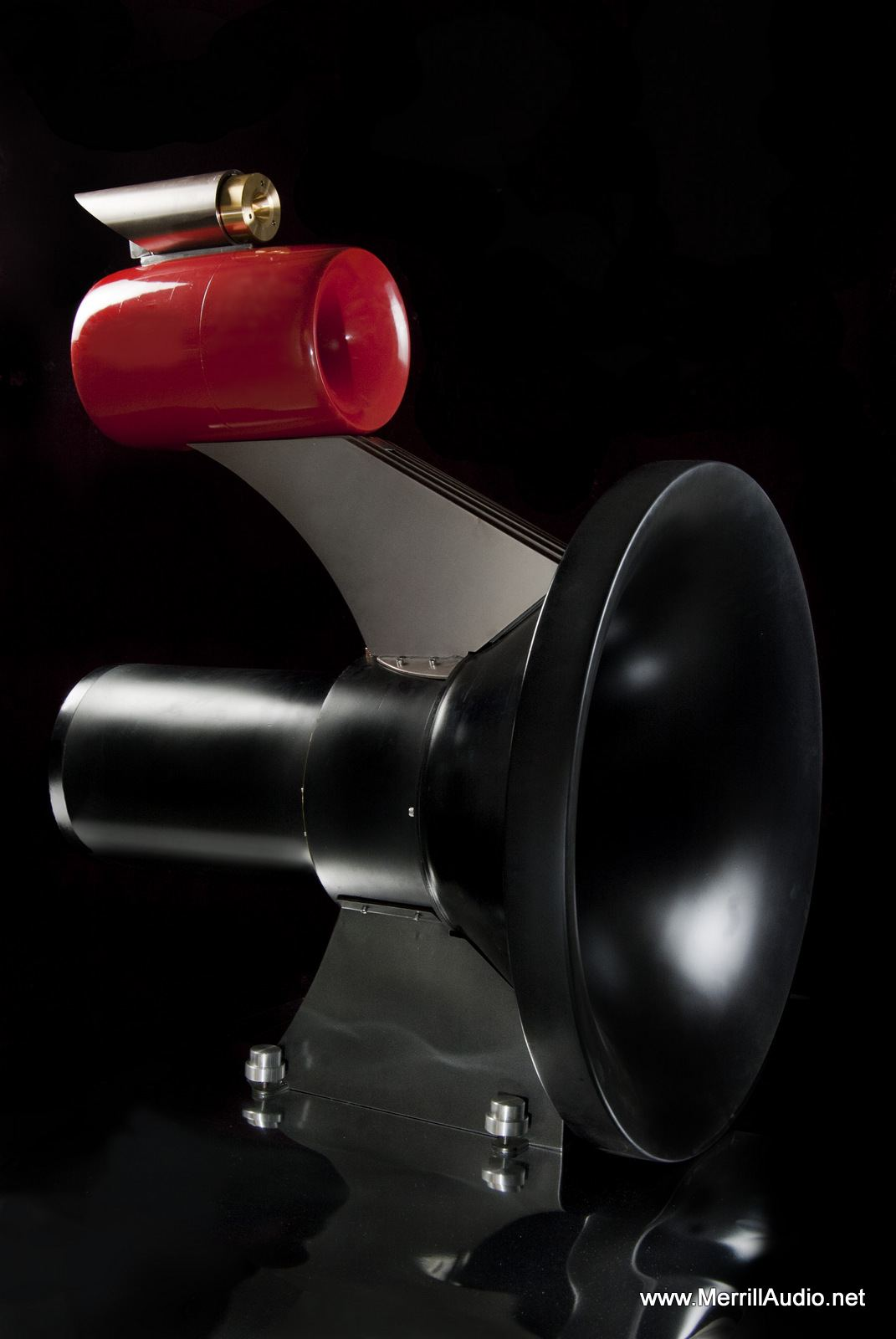 Stacatto Horn Speakers Front View Red