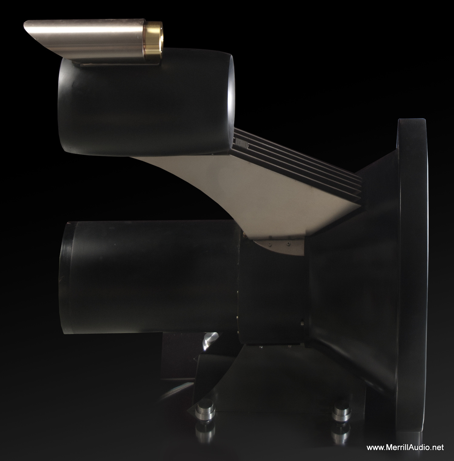Stacatto Horn Speakers Side View