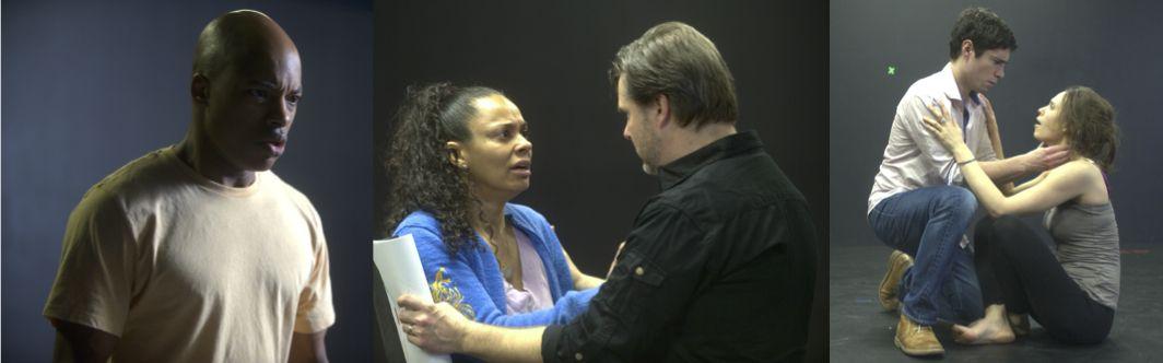Actors in rehearsal for ASC's Hamlet.  Photos by Joshua McKerrow.