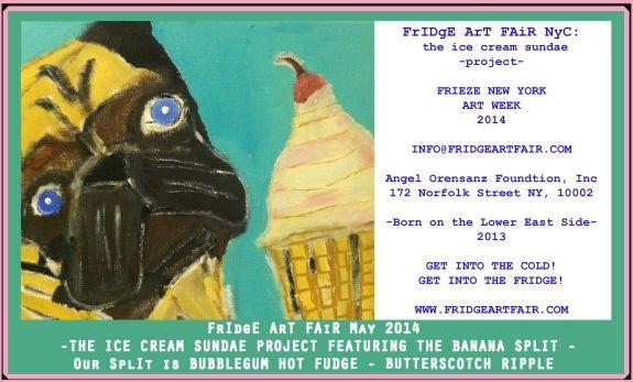 FRIDGE ART FAIR NYC: ICE CREAM SUNDAE PROJECT