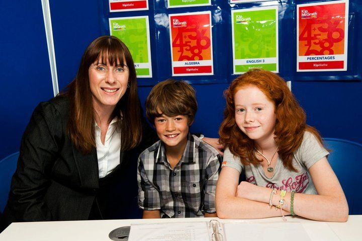 Cerys Llewellyn-Bevan of Kip McGrath Neath working with some of her students