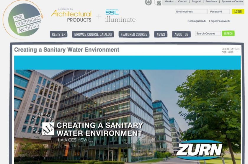 Zurn Sanitary Water CEU Course Available on TCA