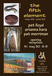 The 5th Element, May 26-June 22, at the Hillsborough Gallery of Arts